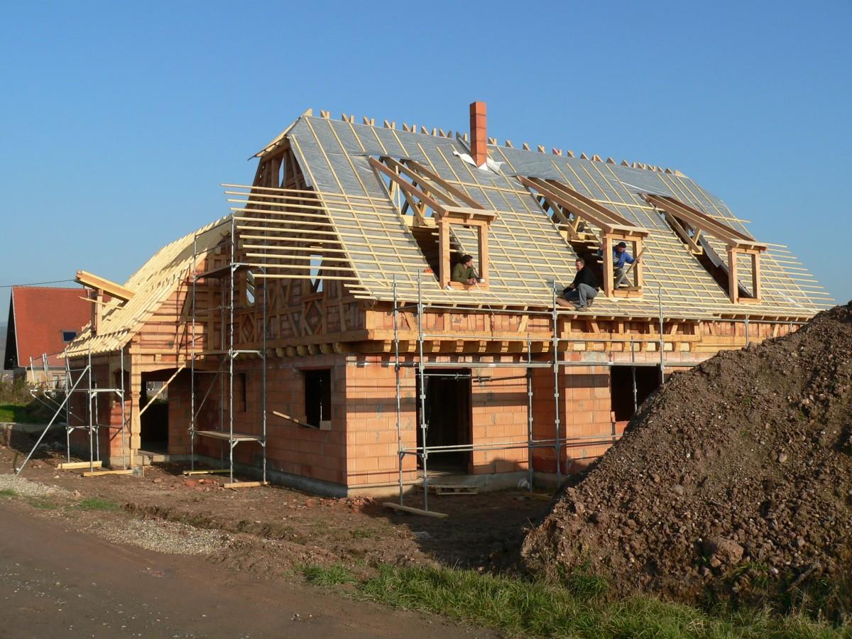 Construction d'une maison alsacienne