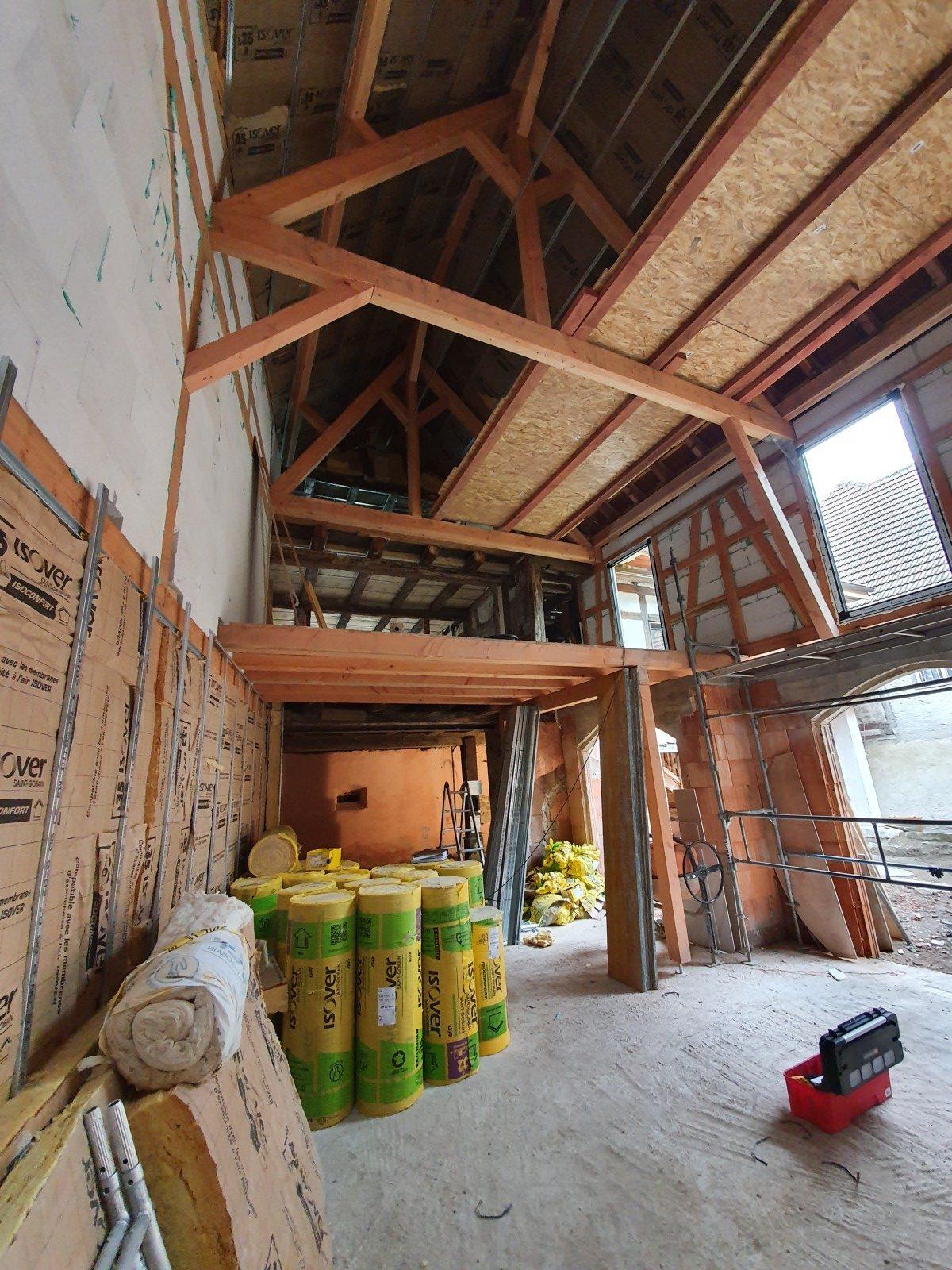 Rénovation d'une grange et d'une dépendance alsace