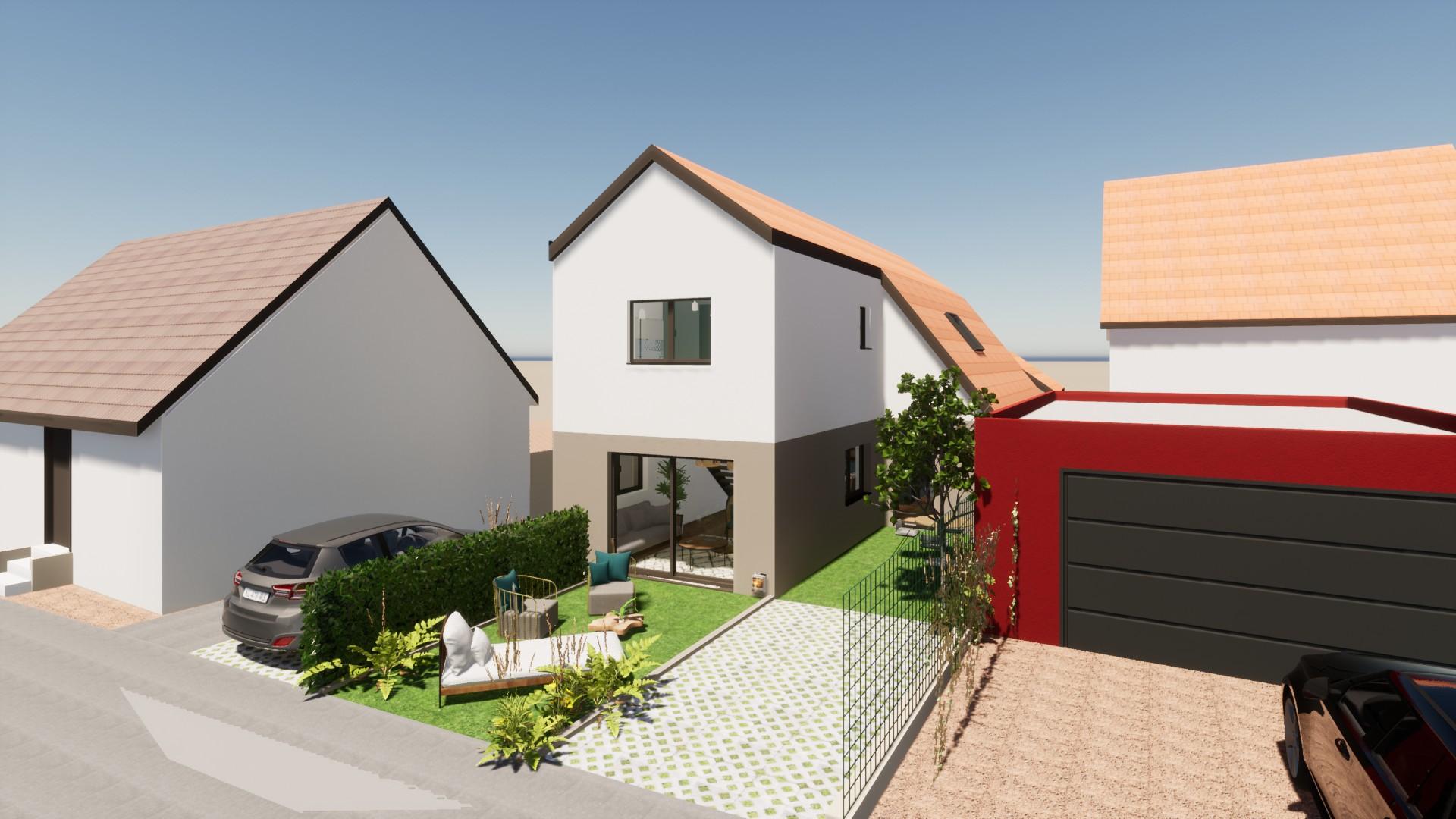 Rénovation et extension d'une maison alsace